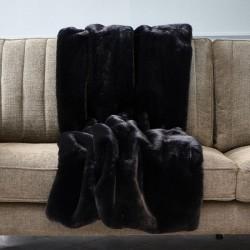 Riviera Maison Faux Fur Throw black 170x130