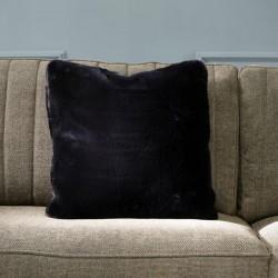 Riviera Maison Faux Fur Pillow Cover black 50x50