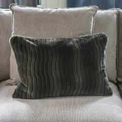 Riviera Maison Faux Fur Pillow Cover green 65x45