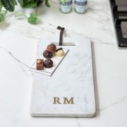 Riviera Maison Magic Marble Serving Plate white