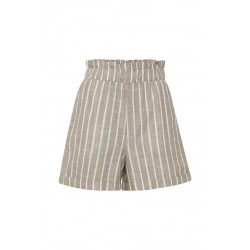 Ichi Shorts Casual Beige Stripe