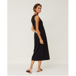 Lexington Nadia Jersey Long Dress, Black