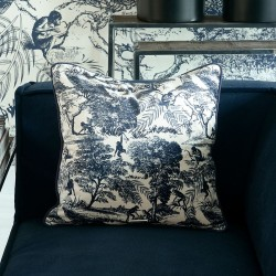 RIVIERA MAISON Toile Printed Pillow Cover 50x50