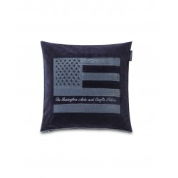 Lexington Arts & Crafts Cotton Velvet Pillow Cover, Blue 50x50