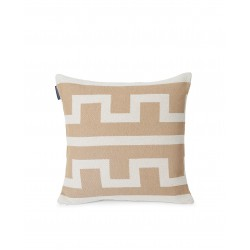 LEXINGTON Graphic Recycled Cotton Pillow Cover, Off White/Beige 50X50