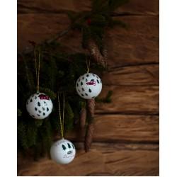 Hand Painted Papier Mache Christmas Tree Ornament (set of 2)