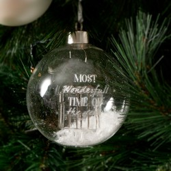 Wonderful Time Ornament silver Dia 10