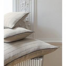 Pellava tyynynpäällinen 45x45 Pellava/musta raita.