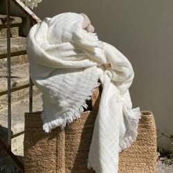 Vanly valkoinen torkkupeitto 130x180