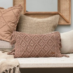 Basic Bliss Macrame Pillow Cover taupe 50x30, Riviera Maison